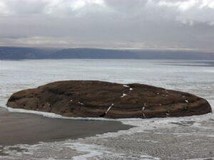 Hans Island, subject of a war between Canada and Denmark since 1984